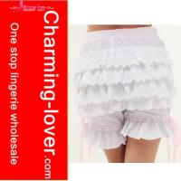 Wholesale sexy underwear White ruffled Pumpkin pants from china suppliers