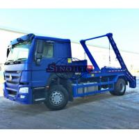 China 4x2 HOWO 10m3 / 12m3 Swing Arm Garbage Truck, Skip Loader Garbage Collection Truck on sale