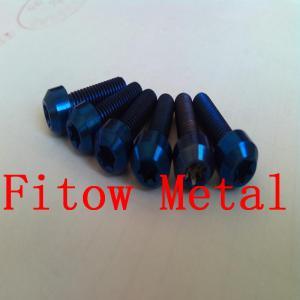 Wholesale Titanium hexalobular socket raised countersunk head screws Titanium Countersunk Bolts - Imprint Torx - ISO14584 Grade 2 from china suppliers