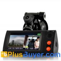 Wholesale 3 Inch Touchscreen Car Blackbox DVR with Dual Cameras, GPS Logger and G-Sensor from china suppliers