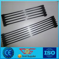 Wholesale plastic uniaxial geogrid price for road construction from china suppliers