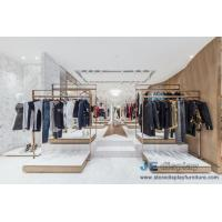 Wholesale Fashion Brand clothing store Design Stainless steel display racks with Shelves and Reception Leisure Furniture couch from china suppliers