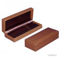 Wholesale Brown pen Gift Box  , Fountain Pen Leather Case Plastic Mould Top Sewing from china suppliers