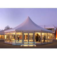 Quality Marquee Wedding Party Tents , Outdoor Gazebo Tent 4x4m With Glass / ABS Walls for sale