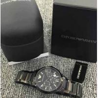 Quality Emporio Armani AR2453 Classic All Black Ion-Plated Men's SS Bracelet Watch for sale