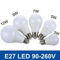 Wholesale SMD5730 Fast Heat  E27 3W/5W/7W/9W/12W 220V/110V Real Watt Bright Lampada LED Bulb from china suppliers