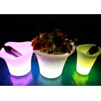 Wholesale Eco - Friendly Material LED Glow Furniture , LED Flower Pot For Coffee Shop from china suppliers