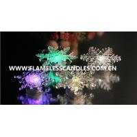 Wholesale Window  Decoration Flameless LED Christmas Candle Lights With Snowflake Design from china suppliers