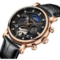 Wholesale Wholesale Fully Automatic Mechanical Genuine Leather Strap Fashion Men Skeleton Wrist Watches JYD-J025 from china suppliers