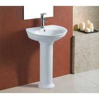 Wholesale Bathroom suite floor standing pedestal wash basin from china suppliers