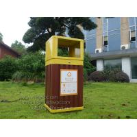 Wholesale WPC(wood plastic composites)Dustbin,WPC garbage can,trashbin 415x365x900mm(OLDA-7301) from china suppliers