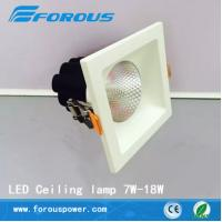 Wholesale Single head square deep dazzling white LED ceiling 7 w to 18 w neutral light from china suppliers