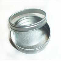 Wholesale Candy Round Tin Box Silver color with clear window , round tin containers from china suppliers