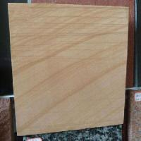 Quality Yellow Wooden Vein Sandstone Tile for sale
