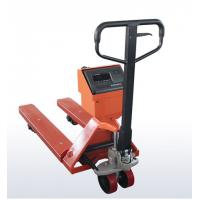 Wholesale OEM Mild Steel Pallet Jack Weight Scale , Red Hand Pallet Truck With Scale from china suppliers