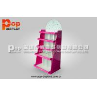 Wholesale Lovely Pink Comic Corrugated Book Display CMYK Printing , Pocket Design from china suppliers