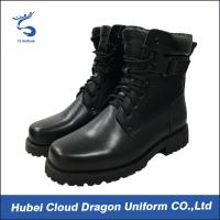Wholesale Custom Size Security Uniform Accessories Classical Army Combat Leather Boots from china suppliers