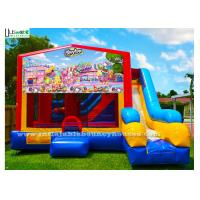 Buy cheap 7 In 1 Kids Shopkin Inflatable Bounce Houses With Basketball Hoop N Obstacles Inside from wholesalers