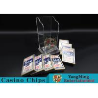 Wholesale Plastic Casino Game Accessories For Wide Cards , Playing Card Dealer Shoe  from china suppliers