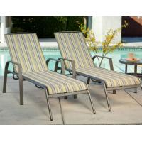 Wholesale Poolside Sling Chaise Lounge Set Aluminum Patio Furniture Sun Chaise Lounge with Cushion from china suppliers