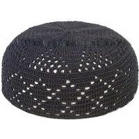 Wholesale black pure cotton crochet cap from china suppliers