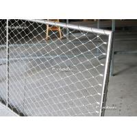 Wholesale Flexible Stainless Steel Wire Rope Mesh Frame Panels For Railing from china suppliers