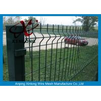 Wholesale Dark Green 3D Welded Wire Mesh Fence Panels PVC Powder Coated 4mm Diameter from china suppliers