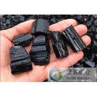 Buy cheap Puzhen multi-functional black Tourmaline rough stone promotional price from wholesalers