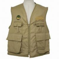 Wholesale Polyester Fishing Vest, Waterproof, Windbreak and Easy to Dry, Customized Designs are Welcome from china suppliers