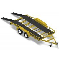 "Wholesale Heavy Duty 18 X 6'6"" Flatbed Car Hauler , Lightweight Car Trailer For Car Hauling from china suppliers"