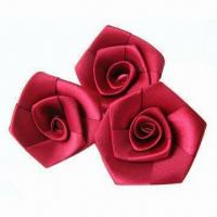 Wholesale Rose Satin Ribbons, Good Texture and High Color Fastness, OEM Orders Accepted from china suppliers