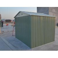 Wholesale Outdoor Waterproof Apex Steel Garden Sheds For Tools Storage / Car Garage 10x10 / 10x8 Ft from china suppliers