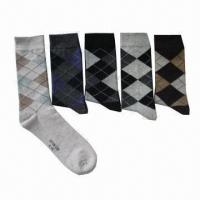 Wholesale Men's socks, made of cotton and spandex from china suppliers