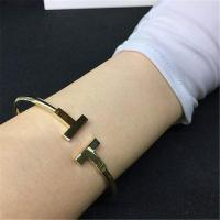 Wholesale Tiffany T series coil Bracelet 18k gold white gold yellow gold rose gold Bracelet from china suppliers