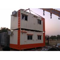 Wholesale Movable Container House Temporary Camp Two Layer Worker Dormitry WIth Airconditioner from china suppliers