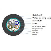Buy cheap Anti Rodent Nylon Jacket 24 fiber optic cable Duct Steel Tape Armor GYTS from wholesalers