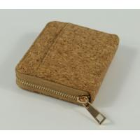 Wholesale Mini Style Nature Cork Raw material Women wallet 10x9cm with card and money slot from china suppliers