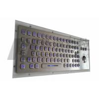 Wholesale Illuminated Stainless Steel Industrial Keyboard With Trackball , Vandal Resistant from china suppliers