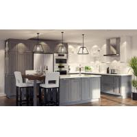 Wholesale Grey L Shape Island Bench Pvc Kitchen Cabinets Pvc Kitchen Cupboards For Villa from china suppliers