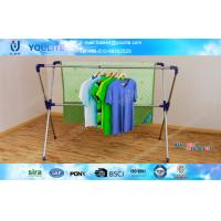 Wholesale X-type Extending Folding Clothes Rack , Steel Standing Clothes Drying Rack from china suppliers