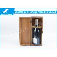 Wholesale Lockable Recycled Wine Packing Boxes , Varnish Vintage Wooden Wine Boxes from china suppliers