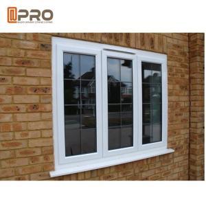 Wholesale White Powder Coating Glass Aluminum Sash Windows Energy Efficient from china suppliers