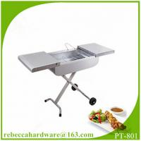 Wholesale Stainless steel trolley charcoal BBQ grill / barbecue grill / charbroiler from china suppliers