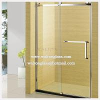 Wholesale Clear Tempered Glass Door with Hole for Bathroom, Drilling Glass Door from china suppliers