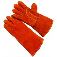 Wholesale Red reinforced full palm construction cut proof  Welding Glove for men WRCBR3 from china suppliers
