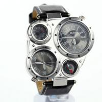 Wholesale hip-hop fashion looking mens' army watch leather strap army style watch from china suppliers