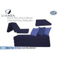 Wholesale SGS Space Saving Foldable Memory Foam Mattress For Sofa / Floor from china suppliers