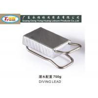 Wholesale 750G Snaked lead weight with stainless steel handle lead scuba weights from china suppliers