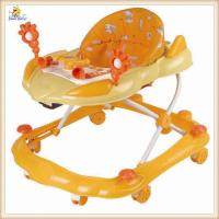 Wholesale Orange Fashion Rolling Baby Push Walker With Musical And Lovely Toys from china suppliers
