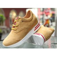 Wholesale Cow Suede Leather Upper Casual Sport Shoes , Platform Heel Girls Casual Shoes from china suppliers